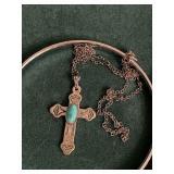 Bracelets & Sterling Crucifix
