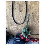 Boss Sweeper, Roses, and Hose