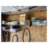Two Shelves of Garage Items