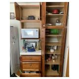 Contents of Cabinets and Counter