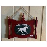 Whitehorse Inn Wooden Sign