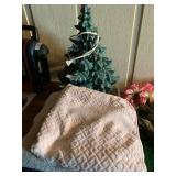 Ceramic Christmas Tree and Towels