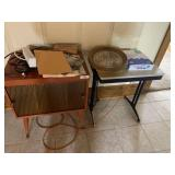 Vintage Record Cabinet and Miscellaneous