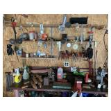 Tools on Top and Above Bench