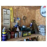 Tools and Miscellaneous on Shelf