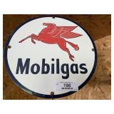 Contemporary Mobilgas Porcelain Sign