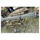 44 Pieces of Steel Conduit & Rack w/Brackets
