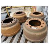 4 Heavyweight Semi Brake Drums