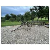 Old Steel Wheel Hay Rake