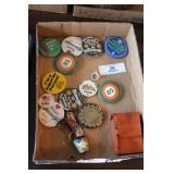 Flat of Advertising Buttons