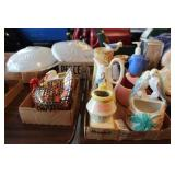 2 Flats of Pottery & Misc.