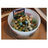 Marbles in Plastic Dish