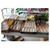 8 Flats of Glassware, Incl Green