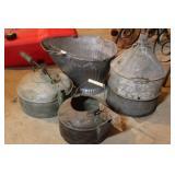 Bucket, Funnel, Pots