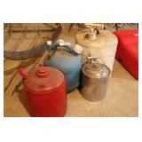 3 Kerosene Cans & Other