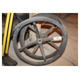 Two Vintage Steering Wheels