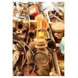 Vintage Car Horns & Lantern