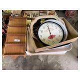 Souvenir Spoon Holder, Clock & Trays