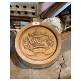 Miller High Lite Barrel Sign