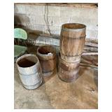 3 Wood Kegs & Container