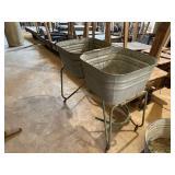 Galvanized Dbl Wash Tubs on Stand