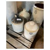 2 Stoneware Jugs & Uhl Waterer