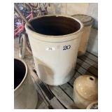 20 Gallon Stoneware Crock Jar