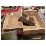 2 Cheese Boxes, Lidded Box & Crate