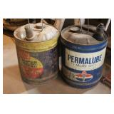 Two Vintage Motor Oil Cans
