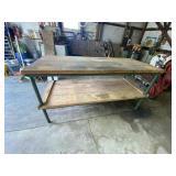 Wood & Metal Work Table