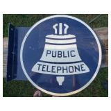 Public Telephone Flange Sign
