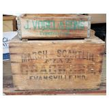 Old Evansville Wooden Crates