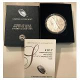 2017 W Silver American Eagle