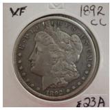 1892 CC US Morgan Silver Dollar Coin