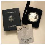 2001 W Silver American Eagle Proof