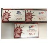 3 Partial US Mint Silver Proof Sets