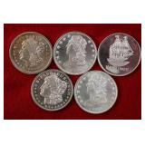 5 Silver 1 Troy Ounce Silver Round
