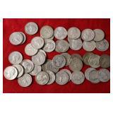 43 Silver Washington Quarters