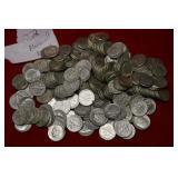 222 Silver Roosevelt Dimes