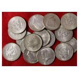 17 Silver Half Dollar Coins