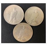 3 Silver Morgan Dollars