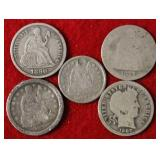5 Silver Coins