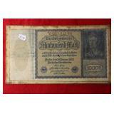 1922 10,000 Reichsbank Note Berlin Germany