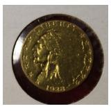 1928 Gold Indian Head $2.50 US Coin