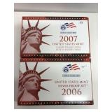 2 US Mint Sets, 1 Silver