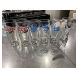6 Beer Glasses