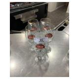5 Stella Artois Beer Glasses