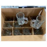 Case of 12 Glass Beer Mugs