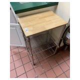 Small Wood Top Work Shelf