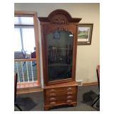 Antique 3-Drawer Chest & Glass Door Cabinet